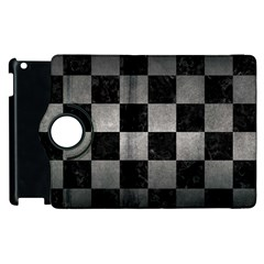 Square1 Black Marble & Gray Metal 1 Apple Ipad 3/4 Flip 360 Case by trendistuff