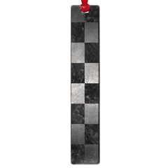 Square1 Black Marble & Gray Metal 1 Large Book Marks by trendistuff