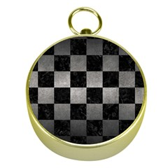 Square1 Black Marble & Gray Metal 1 Gold Compasses by trendistuff