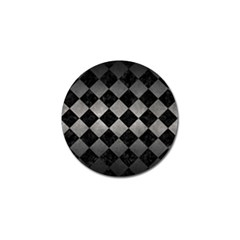 Square2 Black Marble & Gray Metal 1 Golf Ball Marker (4 Pack) by trendistuff