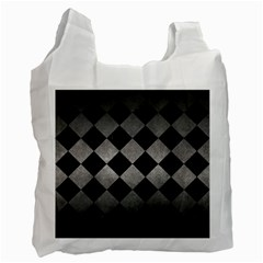 Square2 Black Marble & Gray Metal 1 Recycle Bag (two Side)  by trendistuff