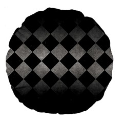 Square2 Black Marble & Gray Metal 1 Large 18  Premium Flano Round Cushions by trendistuff