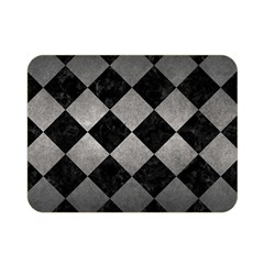 Square2 Black Marble & Gray Metal 1 Double Sided Flano Blanket (mini)  by trendistuff