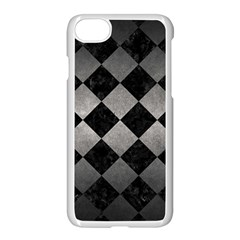 Square2 Black Marble & Gray Metal 1 Apple Iphone 7 Seamless Case (white) by trendistuff