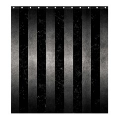 Stripes1 Black Marble & Gray Metal 1 Shower Curtain 66  X 72  (large)  by trendistuff