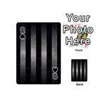 STRIPES1 BLACK MARBLE & GRAY METAL 1 Playing Cards 54 (Mini)  Front - SpadeQ