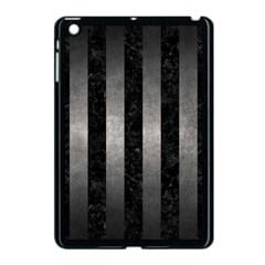 Stripes1 Black Marble & Gray Metal 1 Apple Ipad Mini Case (black) by trendistuff