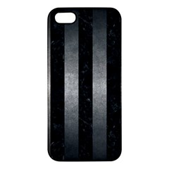 Stripes1 Black Marble & Gray Metal 1 Apple Iphone 5 Premium Hardshell Case by trendistuff