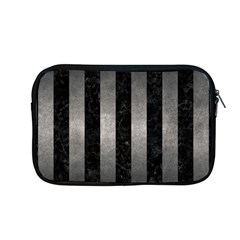Stripes1 Black Marble & Gray Metal 1 Apple Macbook Pro 13  Zipper Case by trendistuff