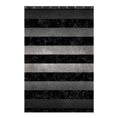 Stripes2 Black Marble & Gray Metal 1 Shower Curtain 48  X 72  (small)  by trendistuff