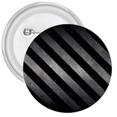 Stripes3 Black Marble & Gray Metal 1 (r) 3  Buttons by trendistuff