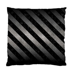 Stripes3 Black Marble & Gray Metal 1 (r) Standard Cushion Case (two Sides) by trendistuff