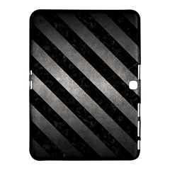 Stripes3 Black Marble & Gray Metal 1 (r) Samsung Galaxy Tab 4 (10 1 ) Hardshell Case  by trendistuff