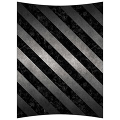 Stripes3 Black Marble & Gray Metal 1 (r) Back Support Cushion by trendistuff