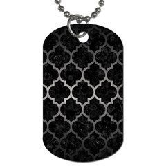 Tile1 Black Marble & Gray Metal 1 Dog Tag (two Sides) by trendistuff