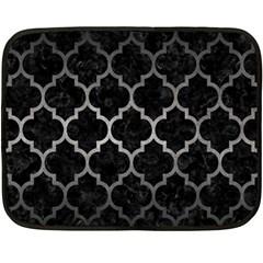 Tile1 Black Marble & Gray Metal 1 Fleece Blanket (mini) by trendistuff