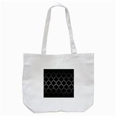 Tile1 Black Marble & Gray Metal 1 Tote Bag (white) by trendistuff