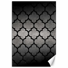 Tile1 Black Marble & Gray Metal 1 (r) Canvas 24  X 36  by trendistuff