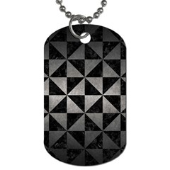 Triangle1 Black Marble & Gray Metal 1 Dog Tag (two Sides) by trendistuff