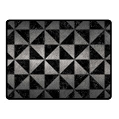 Triangle1 Black Marble & Gray Metal 1 Fleece Blanket (small) by trendistuff