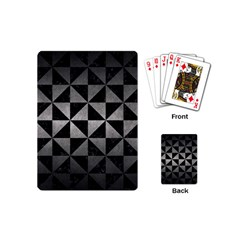 Triangle1 Black Marble & Gray Metal 1 Playing Cards (mini)  by trendistuff