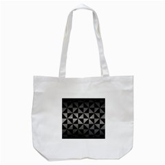 Triangle1 Black Marble & Gray Metal 1 Tote Bag (white) by trendistuff