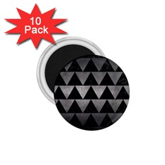 Triangle2 Black Marble & Gray Metal 1 1 75  Magnets (10 Pack)  by trendistuff