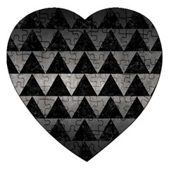 Triangle2 Black Marble & Gray Metal 1 Jigsaw Puzzle (heart) by trendistuff