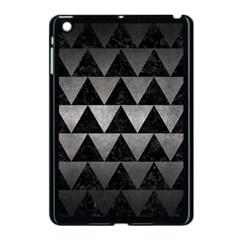 Triangle2 Black Marble & Gray Metal 1 Apple Ipad Mini Case (black) by trendistuff