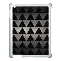 Triangle2 Black Marble & Gray Metal 1 Apple Ipad 3/4 Case (white) by trendistuff
