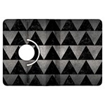 TRIANGLE2 BLACK MARBLE & GRAY METAL 1 Kindle Fire HDX Flip 360 Case Front