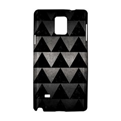 Triangle2 Black Marble & Gray Metal 1 Samsung Galaxy Note 4 Hardshell Case by trendistuff