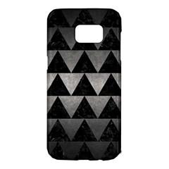 Triangle2 Black Marble & Gray Metal 1 Samsung Galaxy S7 Edge Hardshell Case by trendistuff