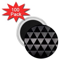 Triangle3 Black Marble & Gray Metal 1 1 75  Magnets (100 Pack)  by trendistuff