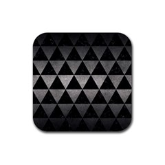 Triangle3 Black Marble & Gray Metal 1 Rubber Square Coaster (4 Pack)  by trendistuff
