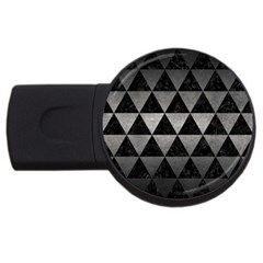 Triangle3 Black Marble & Gray Metal 1 Usb Flash Drive Round (4 Gb)