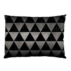 Triangle3 Black Marble & Gray Metal 1 Pillow Case (two Sides) by trendistuff