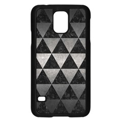 Triangle3 Black Marble & Gray Metal 1 Samsung Galaxy S5 Case (black) by trendistuff