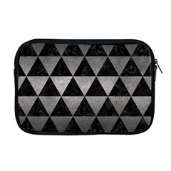Triangle3 Black Marble & Gray Metal 1 Apple Macbook Pro 17  Zipper Case by trendistuff