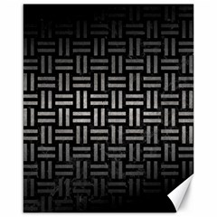 Woven1 Black Marble & Gray Metal 1 Canvas 16  X 20   by trendistuff