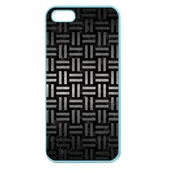 Woven1 Black Marble & Gray Metal 1 Apple Seamless Iphone 5 Case (color) by trendistuff