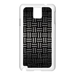Woven1 Black Marble & Gray Metal 1 Samsung Galaxy Note 3 N9005 Case (white)