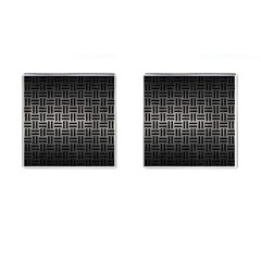 Woven1 Black Marble & Gray Metal 1 (r) Cufflinks (square) by trendistuff