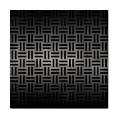 Woven1 Black Marble & Gray Metal 1 (r) Face Towel by trendistuff