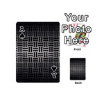 WOVEN1 BLACK MARBLE & GRAY METAL 1 (R) Playing Cards 54 (Mini)  Front - SpadeA