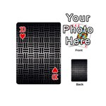 WOVEN1 BLACK MARBLE & GRAY METAL 1 (R) Playing Cards 54 (Mini)  Front - Heart10