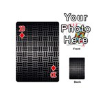 WOVEN1 BLACK MARBLE & GRAY METAL 1 (R) Playing Cards 54 (Mini)  Front - Diamond10