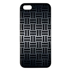 Woven1 Black Marble & Gray Metal 1 (r) Iphone 5s/ Se Premium Hardshell Case by trendistuff