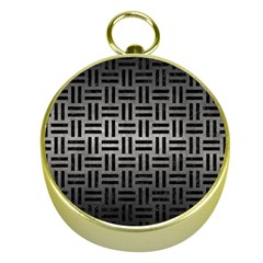 Woven1 Black Marble & Gray Metal 1 (r) Gold Compasses by trendistuff