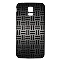 Woven1 Black Marble & Gray Metal 1 (r) Samsung Galaxy S5 Back Case (white) by trendistuff
